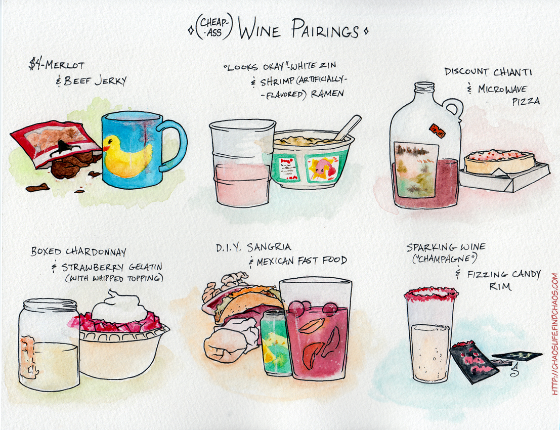 Cheap- Ass Wine Pairings