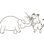 Sketch Elephant vs. Cat